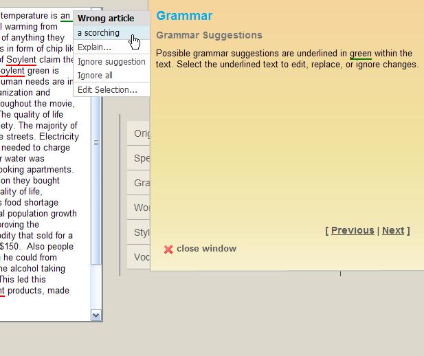 Free Online Grammar and Spell Checker