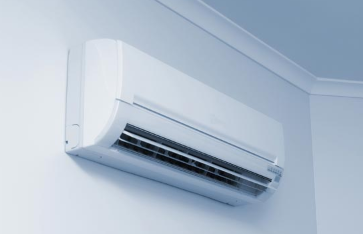 We turn on our air conditioner system.