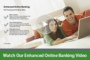 Online banking services and opening put down and balances.