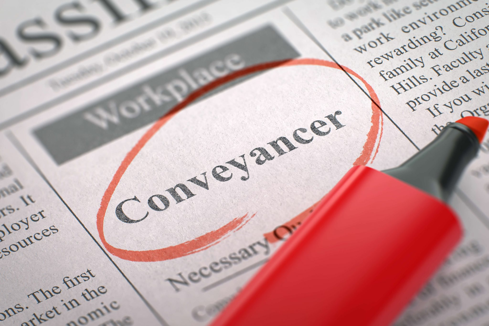 Conveyancing looks are often a peculiar subject to a home buyer.
